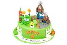Бутикова детска торта Растения срещу Зомбита