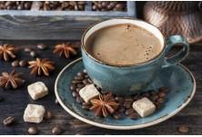 Кафе с подправки (Мароко) --> Смес от подправки като сусам, черен пипер и индийско орехче се смилат заедно с кафе на зърна и се получава... наистина силна напитка.